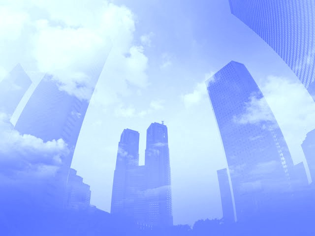 photo-manipulation-of-eco-concepts--and-environment--blue-sky-and-skyscrapers-eco-concepts--lohas-and-ecology-108090
